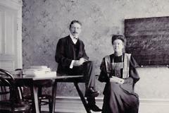 Gerda Holmberg, lärare på handelssko i Göteborg ca 1900