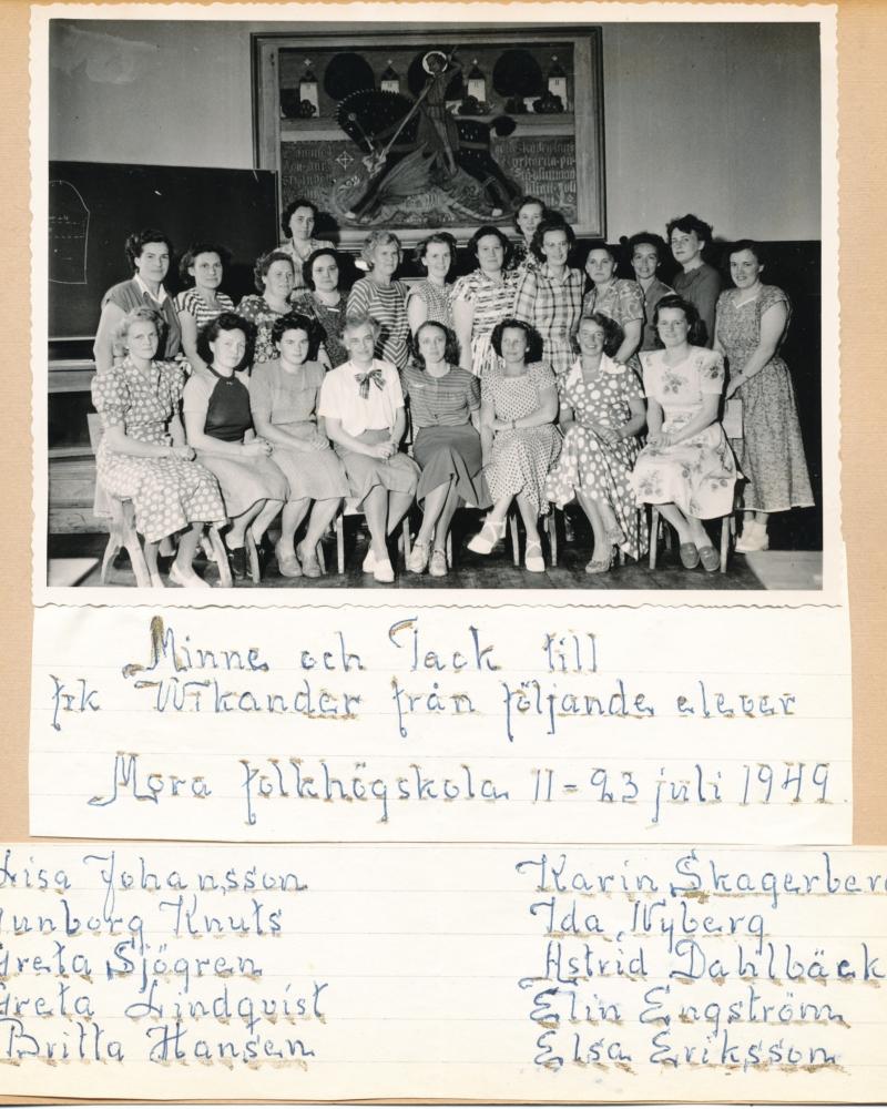 Kurs för systugeföreståndarinnor i Mora 1949
